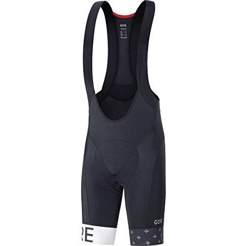 (GORE WEAR C5 Bib Shorts+ Limited Edition - Men's Black/White, XL)