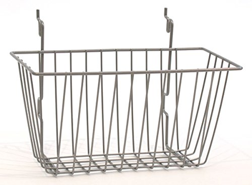 Wire Basket Slatwall Gridwall Pegboard Display Store Fixture Lot of 6 Chrome NEW