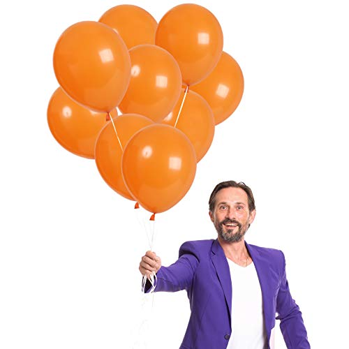 (Treasures Gifted Pack of 72 Orange 12 Inch Solid Latex Balloons Halloween Quality Party Decorations for a Rainbow Tropical Island Spring Circus Birthday or Christmas)