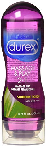 Durex Massage & Play 2 in 1 Lubricant, 6.76 oz., Soothing Touch with Aloe Vera