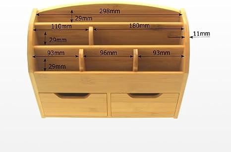 Tisch-und Wandorganizer Bambus Wandablage Briefhalter Wandboard Briefablage