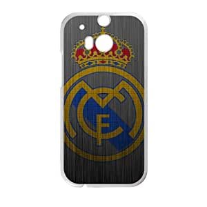 Sports real madrid metal logo HTC One M8 Cell Phone Case White Gift xxy_9863715
