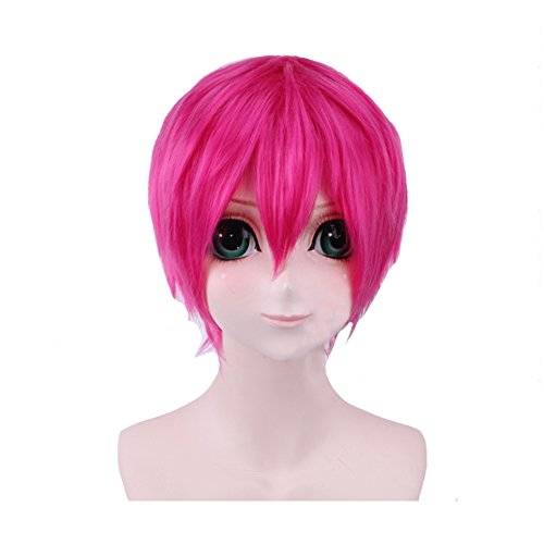 Gowther Wig Cosplay Seven Deadly Sins Costume Pink Short Hair Anime Halloween Accessories (Seven Deadly Sins Costumes For Girls)