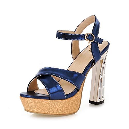 Size Caviglia Calzature Donna Super 32 Piattaforma Da Scarpe Heels nbsp; Blue High Big nbsp; 43 Hoesczs Sandali Alla Estate Cinturino nbsp;2018 q0gqU