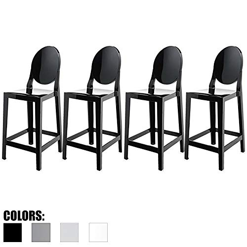 2xhome - Set of Four (4) - Black - 30