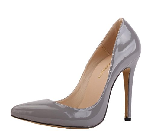 dress leather Patent shoes female yards wedding 42 high shoes party heels ZCH banquet large Pointed high 42 heels xztdIqIa
