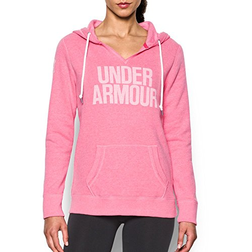 Under Armour Women's Favorite Fleece Word Mark Popover, Knock Out (656), X-Small