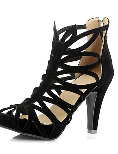 LFNLYX Zapatos de mujer-Tacón Stiletto-Tacones-Sandalias-Boda / Vestido / Casual / Fiesta y Noche-Vellón-Negro / Rojo Green
