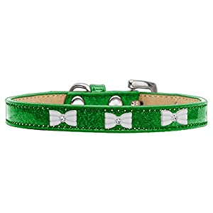 Mirage Pet Products 633-6 EG20 White Bow Widget Emerald Green Ice Cream Dog Collar, 3X-Large Click on image for further info.
