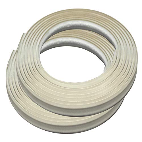 InstaTrim IT05INIVR InstaTrim-1/2 inch Flexible, Self-adhesive, Caulk and Trim Strips for Floors, Ceilings, Countertops and More and More, 1/2 in. wide X 10 ft long, Ivory, 2 ()