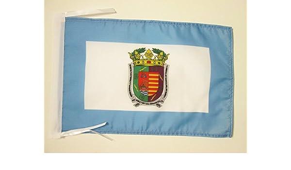 AZ FLAG Bandera de la Provincia DE MÁLAGA 45x30cm - BANDERINA MÁLAGA EN ANDALUCÍA 30 x 45 cm cordeles: Amazon.es: Hogar