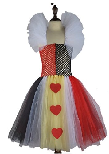 Queen of Hearts Tutu Dress Costume/Accessories from Chunks of Charm (5- -