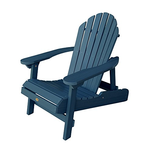 Phat Tommy Outdoor Recycled Poly Highwood Folding Hamilton Adirondack Chair– Eco- Friendly for Garden & ()