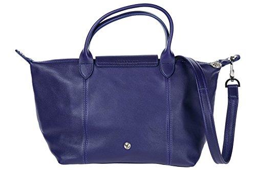 Longchamp borsa donna a mano shopping in pelle nuova viola Footaction Venta En Línea S1abV
