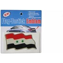 SYRIA COUNTRY FLAG BUMPER STICKER FLAG-TASTICK EMBLEM.SIZE: 3.5 X 2 INCH