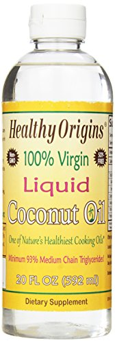 Healthy Origins Liquid Coconut Oil, 20 Ounce