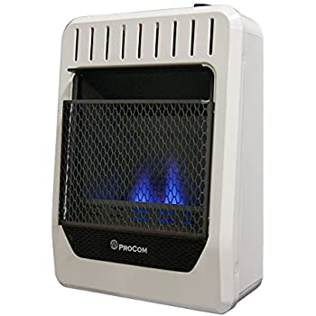 Procom Blue Flame Wall Heater 10 000 Btu Output 300 Sq