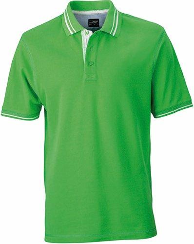 JN947 Herren Lifestyle Polohemd Poloshirt , Farbe: Grün , Gr. XXL