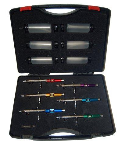 Master S69 Studio Airbrush Set Professional Airbrush Set with 6 Master Model ... by Master Airbrush