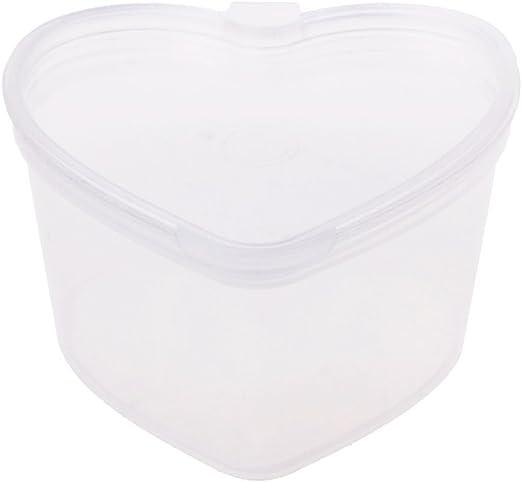 Manyo 45 ml cajas de plástico transparentes con tapa (pequeño contenedor organizador caja para plastilina Slime barro arcilla ligera niños juguetes Fournitures attributs alimentaires: Amazon.es: Hogar