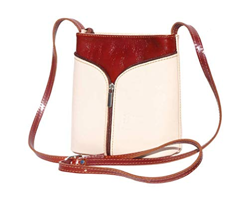 (JAENIS NICHOLE- Patent Crossbody bags for women Genuine Leather Purses and Handbags Crossbody Bags Over the Shoulder Small Purses)