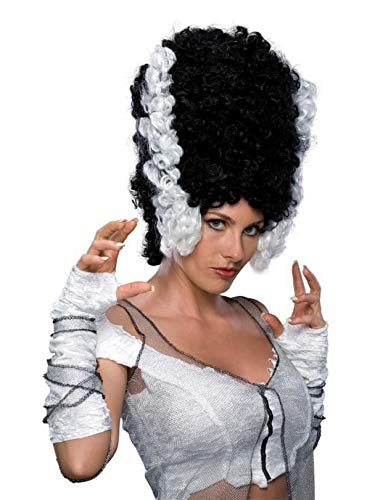 Rubie's Monster Bride Wig, Black/White, One Size