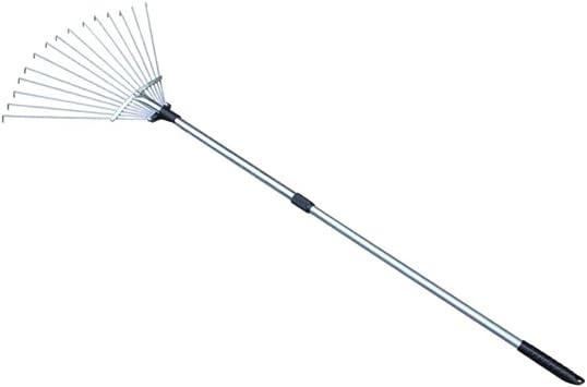 ULTECHNOVO rastrillo de hoja de acero inoxidable ajustable rastrillo limpiador de malezas para jardín de su casa patio granja 15 dientes (telescópico bidireccional): Amazon.es: Bricolaje y herramientas