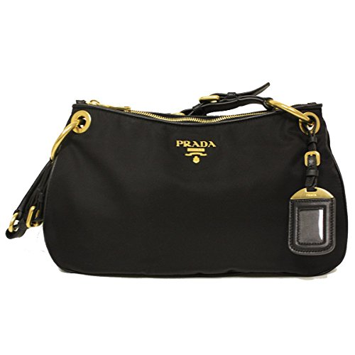 e41c50dfbe01 Prada BR4894 Nero Black Tessuto Soft Calf Leather and Nylon Shoulder Bag -  Buy Online in KSA. Shoes products in Saudi Arabia. See Prices