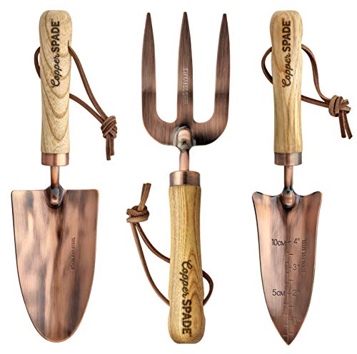 Copper Garden Tool Set - Stainless Steel