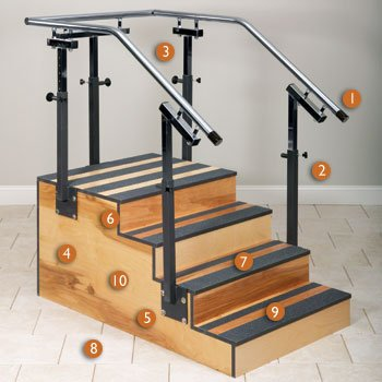 Adjustable one-sided staircase 36'' CLINTON SELECT SERIES STAIRCASES For Physical Therapy - Exercise Equipment - Fitness Item# 4-6501-36 by Clinton Kangoo (Image #1)