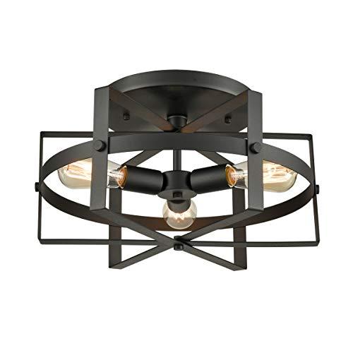 DANXU Lighting Retro Industrial Flush Mount Ceiling Light Fixture from Danxu