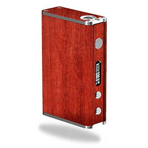 Decal Sticker Skin WRAP - Smok R200 200W - Wood Cherry Wood Wooden Background