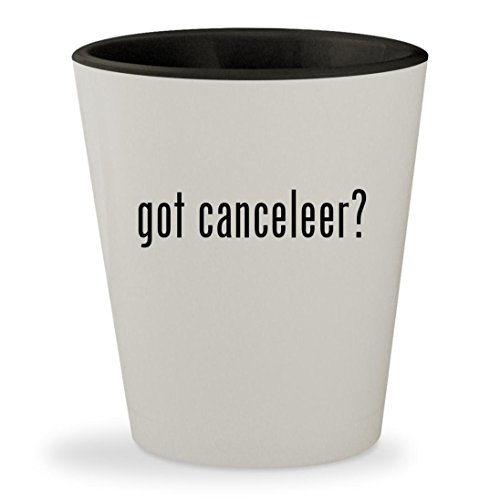got canceleer? - White Outer & Black Inner Ceramic 1.5oz Shot Glass