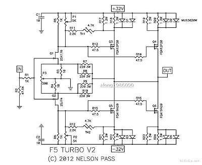 FidgetFidget TURBO Amplifier bare PCB One pair CLONE PASS F5 (2 channel)
