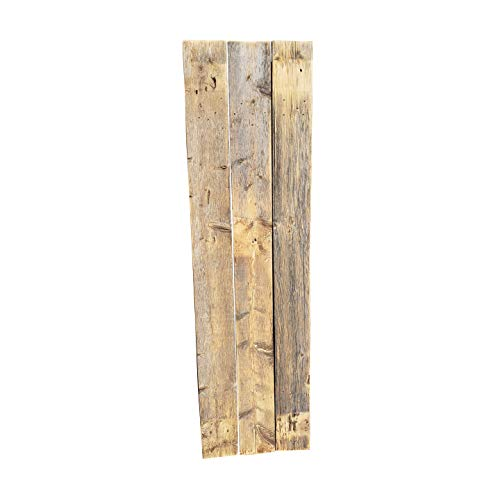 """Rustic Shutters Made from 100% Reclaimed Weathered Wood - Perfect for Farmhouse Barnwood Style Decor - Set of 2 - Made in The USA (11""""x36"""")"""