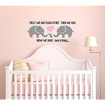 amazon com three cute elephants parents and kid family wall decal