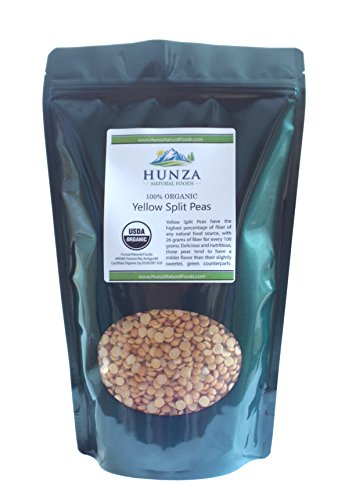 Hunza Organic Yellow Split Peas (2 lbs) (Yellow Split Pea)