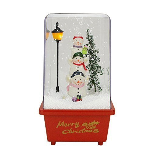 "11.5"" Musical Snowmen Friends Christmas Snow Globe Glitterdo"