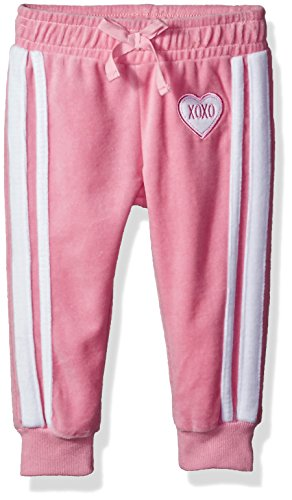 XOXO Toddler Girls' Velour Pant, Candy Pink, 4T