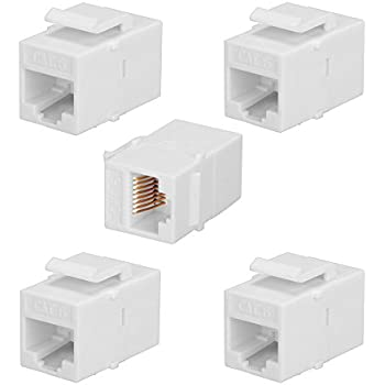 10 Pack, CAT6 Straight USHANLIN CAT6 RJ45 Keystone Jack Inline Coupler Female to Female
