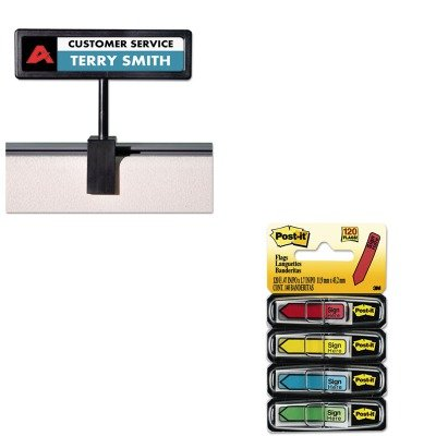 - KITAVT75334MMM684SH - Value Kit - Advantus People Pointer Cubicle Sign (AVT75334) and Post-it Arrow Message 1/2amp;quot; Flags (MMM684SH)