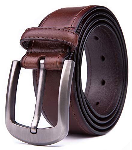 - Men Genuine Leather Belts, Fashion & Classic Design for Casual and Dress (46, 4 Brown)