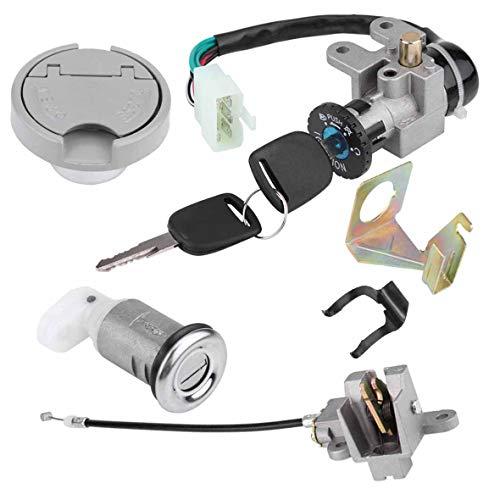 New 50CC Ignition Switch Key Lock For GY6 50cc Jonway Taotao Roketa Metal Plastic Silver Black