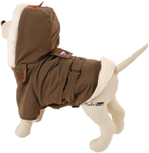 Petego Dogrich Siberian Winter Dog Coat, Mocha, 16 Inches, My Pet Supplies