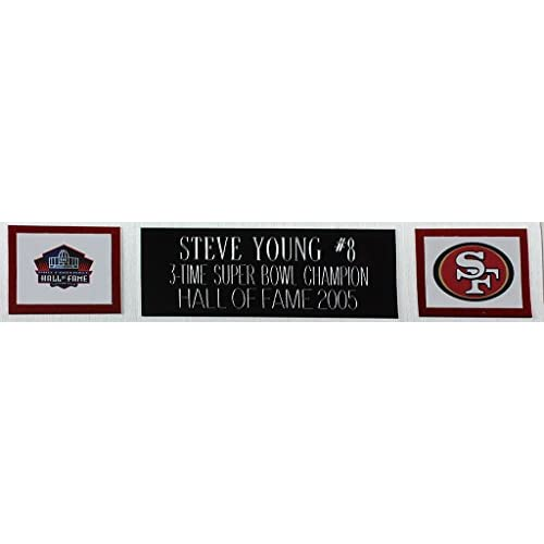 ae5dc11b5 Steve Young Autographed Red 49ers Jersey - Beautifully Matted and Framed -  Hand Signed By Steve