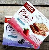 Van's PB&J VARIETY Pack + FREE 19 oz Beverage Bottle: 2 Boxes of BLUEBERRY & PEANUT BUTTER Sandwich Bars, 2 Boxes of STRAWBERRY & PEANUT BUTTER Sandwich Bars. 1.4 oz, 5 count box. 20 Delicious Bars!