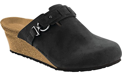Birkenstock Womens Dana Sandal Black Oiled Leather Size 40 N EU (9-9.5 N US Women) (Birkenstock Clog Sandal)