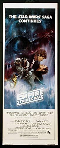 THE EMPIRE STRIKES BACK STAR WARS 1980 ORIGINAL 14X36 INSERT MOVIE POSTER ROLLED