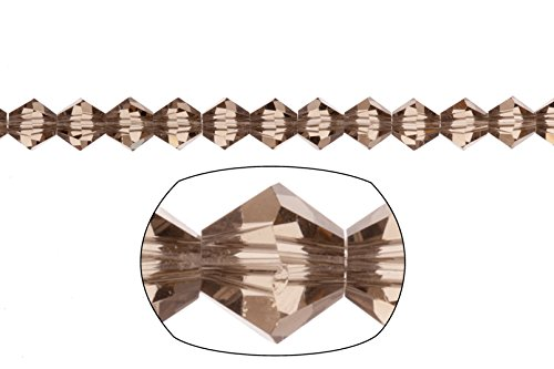 bicone Crystal beads Greige faceted Xilion crystal for Jewelry Making mm 74cnt (Bicone Greige)