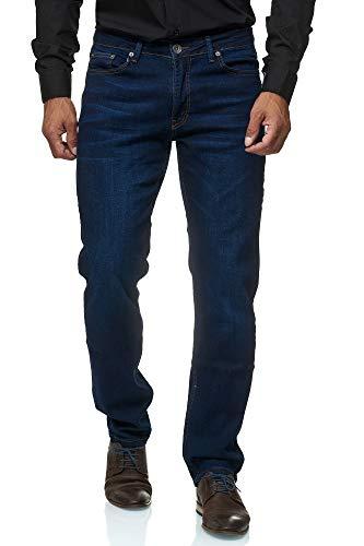 Jeel Herren-Jeans - Regular Fit Straight Cut - Stretch - Jeans-Hose Basic Washed